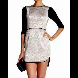 NEW Black Halo Savona Gold Mini Dress Size 10